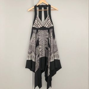 BCBG Amaya Silk Handkerchief Dress Sz S